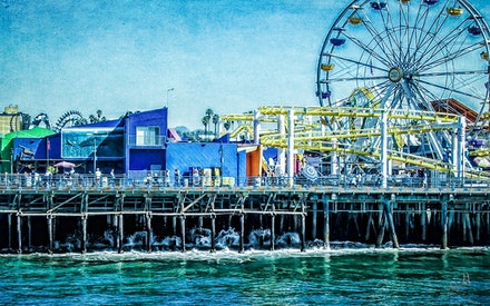 Santa Monica Pier - So excited to get to stand on this landmark that was so familiar to me from the many tv shows and movies it has been a part of. Loved...
