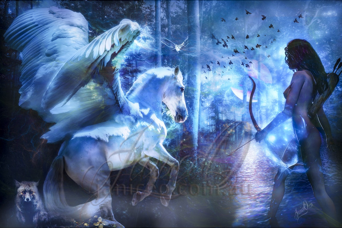 The Dreaming - When the reality of day fades, the  magics of the night bring dreams of other world...  A photomanipulation created in Adobe Photoshop....