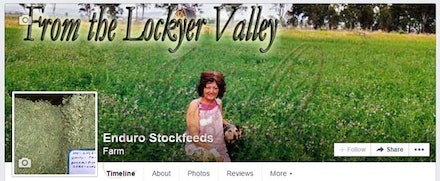 Enduro Stockfeeds - Cover Image for Facebook - The facebook page promotes the product of Enduro Stockfeeds and incorporates their location which is also...