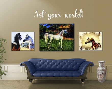 Art Your World - Arranging your artwork in a pleasing grouping to suit the room and furniture.