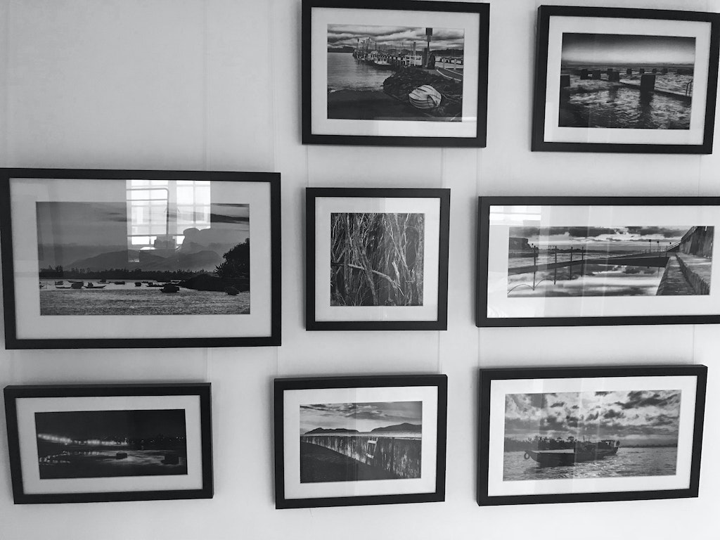 2018 - May - Black and white wall - before