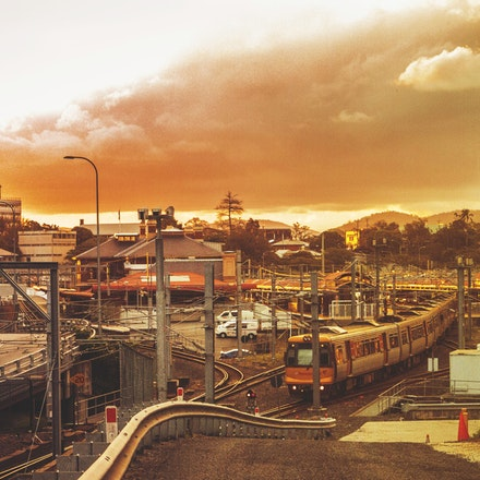 Brisbane City Rail yard