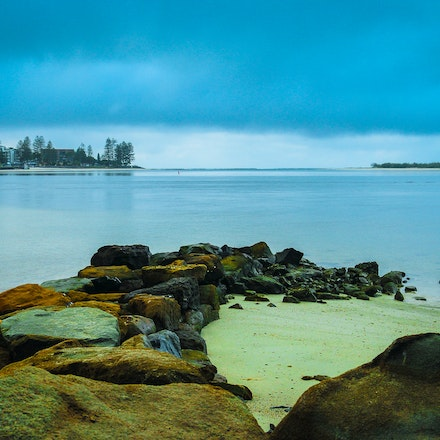 Serenity - Looking out over Caloundra and the tip of Bribie Island on an overcast Australia day morning
