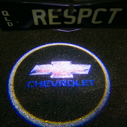 Chev in lights - Cool downlight Chevrolet badge