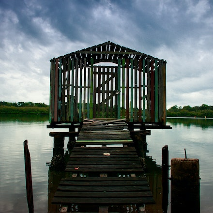 Fishing Shack - A fishing shack on the Maroochy River, Queensland, that has seen better days
