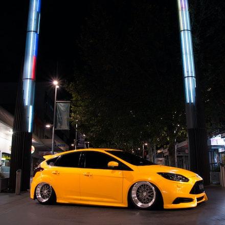 Chris 002 - Tangerine Scream Ford Focus ST lurking the streets of Sydney
