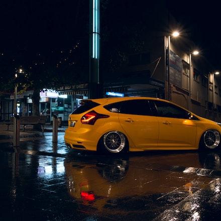 Chris 006 - Tangerine Scream Ford Focus ST lurking the streets of Sydney