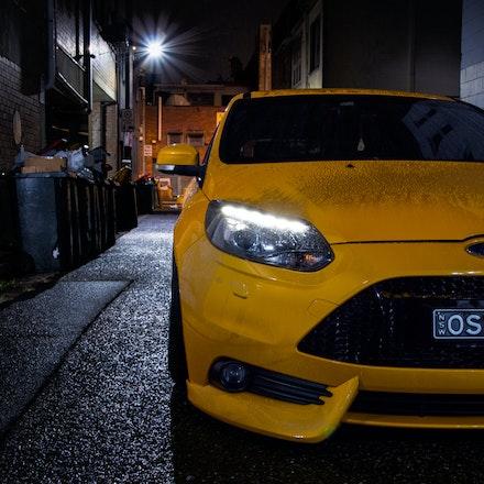 Chris 008 - Tangerine Scream Ford Focus ST lurking the streets of Sydney