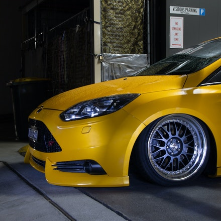 Chris 011 - Tangerine Scream Ford Focus ST lurking the streets of Sydney