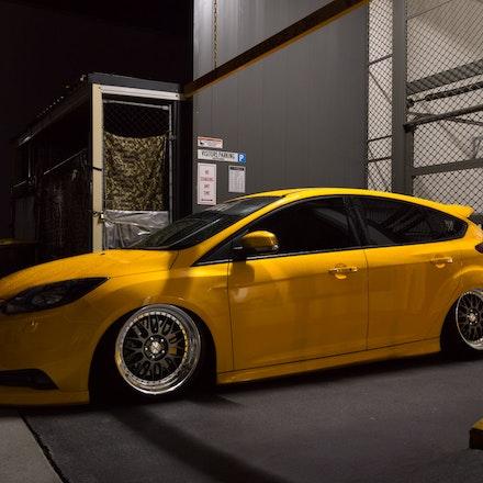 Chris 012 - Tangerine Scream Ford Focus ST lurking the streets of Sydney