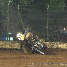 Aaron Van Zeeland. Late Models - crash.  3-01-15