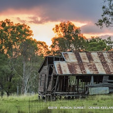 SUNSET AT WONDAI SHACK - CANVASES AND ACRYLIC PRINTS AVAILABLE ON ALL PHOTOS.