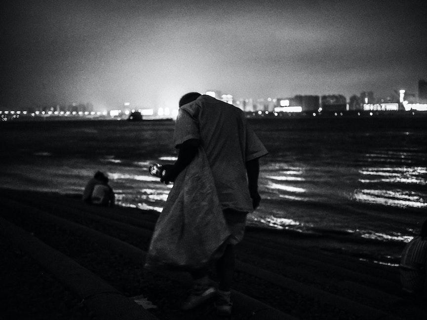 Street photography wuhan - old walkers - OLYMPUS DIGITAL CAMERA