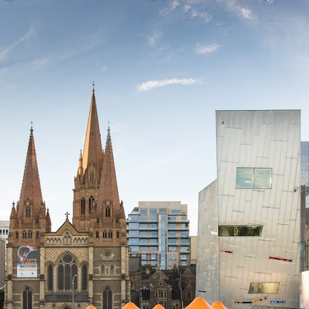 St Pauls Cathedral from Federation Square