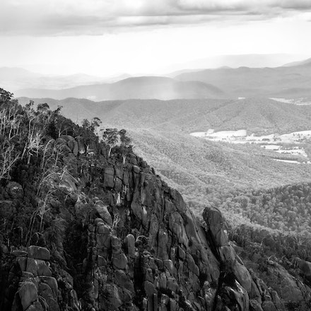 Mount Buffalo Ridge - A ridge on Mount Buffalo, Victoria, looking north. Photography by Cameron Hart of CDH Photography