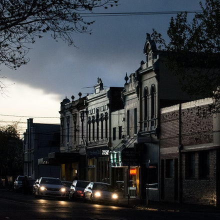 North Fitzroy Village - Streetscape at Dusk - City of Yarra Project - The North Fitzroy streetscape at dusk