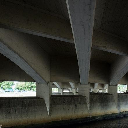 Swan Street Bridge - The view under the Swan Street Bridge in Melbourne