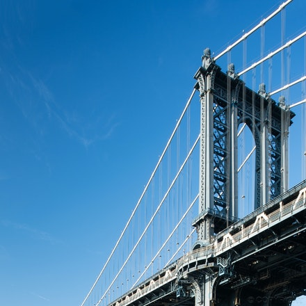 The Manhattan Bridge in Brooklyn - A different view of the Manhattan Bridge, Brooklyn USA