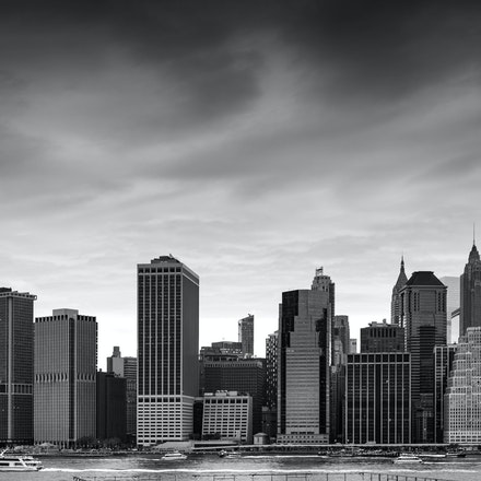 NYC - Manhattan Skyline from Brooklyn - The Lower Manhattan Skyline viewed from Brooklyn Heights