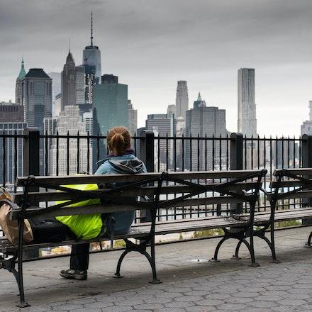 NYC - Brooklyn Heights - Looking towards the Manhattan Skyline from Brooklyn Heights