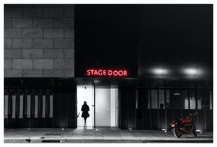 Melbourne Recital Centre Stage Door - About to go on stage at the Melbourne Recital Centre. Priced from $15 for standard lustre print or $35 for museum...