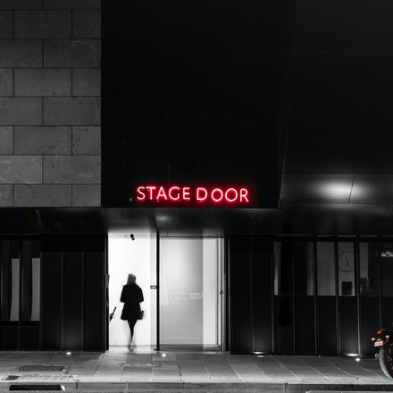 Melbourne Recital Centre Stage Door - About to go on stage at the Melbourne Recital Centre