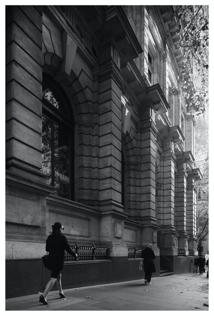 Morning Light, Collins Street Melbourne - Priced from $15 for standard lustre print or $35 for museum grade paper print. Click on the image shopping cart...