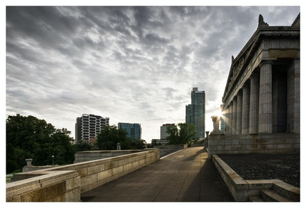Shrine of Remembrance - Looking into the Light at the Shrine of Remembrance, Melbourne. Priced from $15 for standard lustre print or $35 for museum grade...