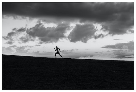 Elwood Runner - Dusk at Point Ormond, Elwood. Priced from $15 for standard lustre print or $35 for museum grade paper print. Click on the image shopping...