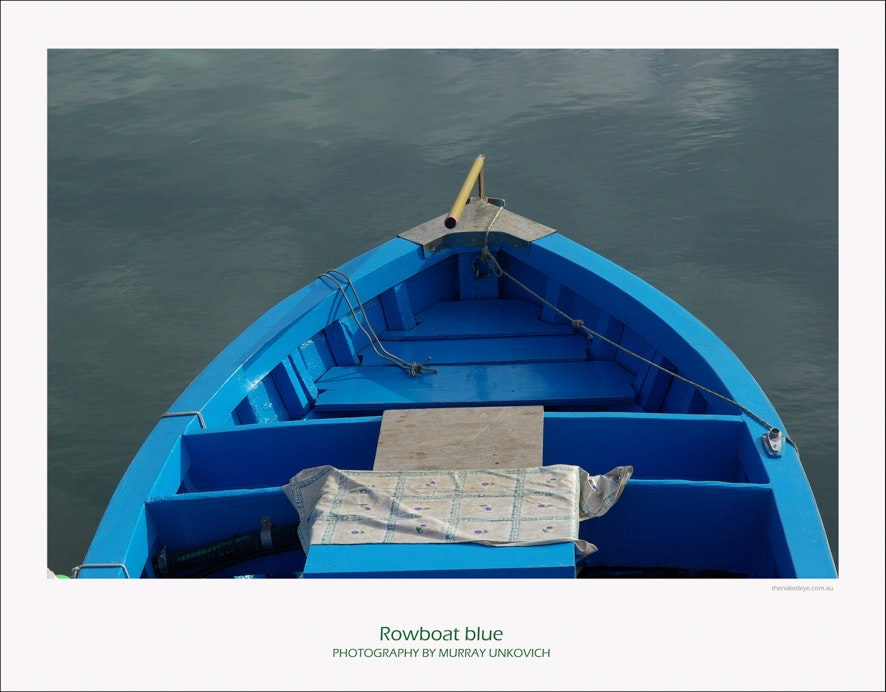 Rowboat blue