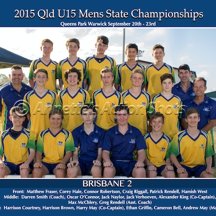 TEAM PHOTOS - U15 Mens Championships - Team Photos can now be ordered Online - Laminated: $14.00 plus postage