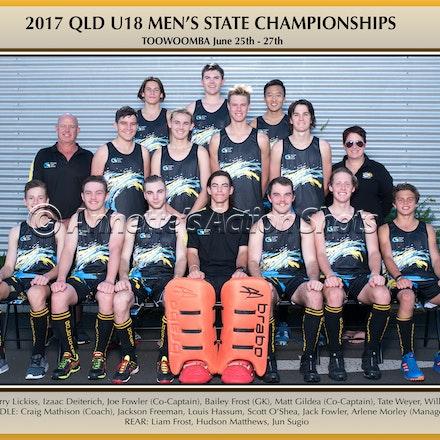 TEAM PHOTOS - 2017 U18 Men's Championships - Laminated Team Photo $14 plus postage