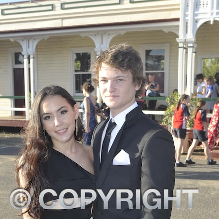 161118_SR24905 - Kailyn Horne and Brodie Moore at the Longreach State High School's Year 12 Formal photo call at the Railway Station, Friday November 18,...