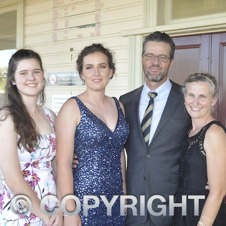 161118_SR24934 - Keely, Darci, Dave and Karen Perry at the Longreach State High School's Year 12 Formal photo call at the Railway Station, Friday November...