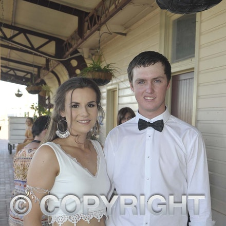 161118_SR24941 - Emily Bielenberg and Ben Mathews at the Longreach State High School's Year 12 Formal photo call at the Railway Station, Friday November...