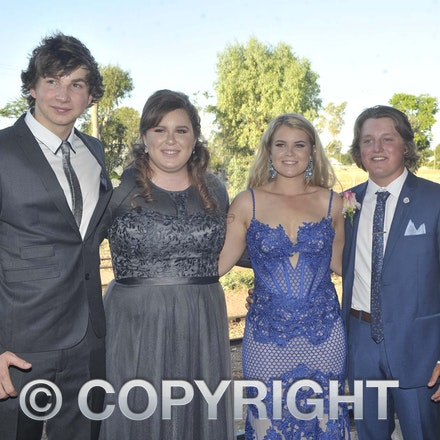 161118_SR24979 - ??, Dawn King-Traill, Jonttii Arnold and Bryce Rackemann  at the Longreach State High School's Year 12 Formal photo call at the Railway...