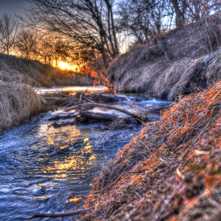 Brook - One of many small brooks that meander across the landscape in Nebraska.  Taken in southern Lancaster County.