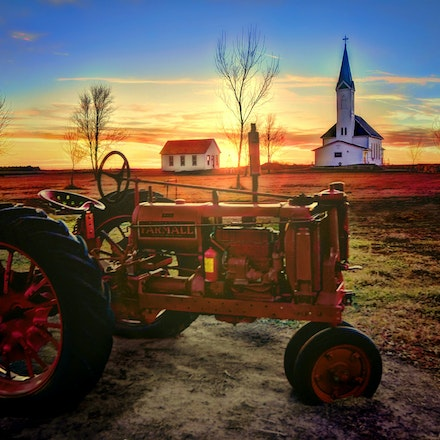God and Country  12.18.2015.3 - God and Country. This picture, taken in York, Nebraska depicts the foundation of many midwestern values: Home, Church and...