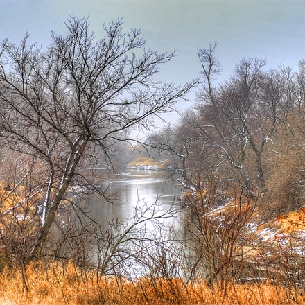 Big Blue - January picture of the Big Blue River in Saline County, Nebraska