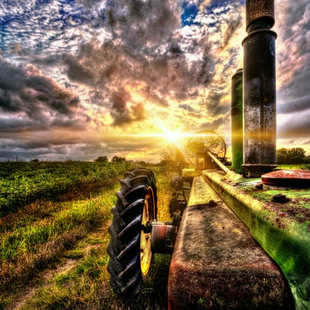 Overthetop   9.7.2016.5 - Overthetop No amount of rust can diminish the glory of a vintage John Deere caught in the glow of a fading Nebraska sunset. Lancaster...