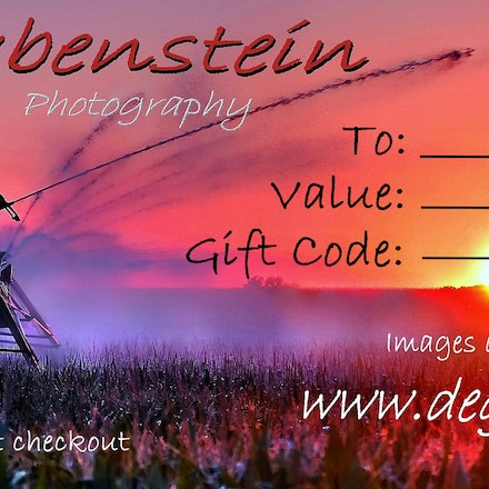 DEGphoto Gift Certificate - Select Value of Gift Certificates wanted.