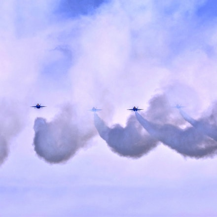Trailing Smoke   5.8.2016.2 - Trailing Smoke. The famed Blue Angles paint the sky with colored smoke during an air show in Lincoln, Nebraska. #blueangels...