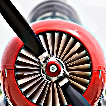 Prop   5.8.2016.7 - Prop. A close up shot of this single seat propeller fighter plane highlights the craftsmanship and beauty of these flying machines....