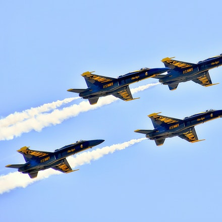 Go Fast   5.8.2016.13 - Go Fast. The U.S. Navy's Blue Angels streak across a cloudless spring sky at the Lincoln Air Show. Lincoln, Nebraska. #blueangels...