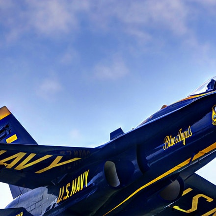 Blue Angel    5.8.2016.14 - Blue Angel. Up close and personal with the F-18 Hornet, the powerful jet flown by the U.S. Navy's famed Blue Angels. Shot captured...