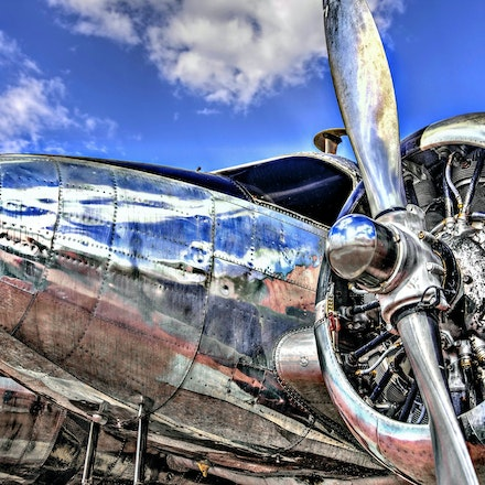 Silver Bird   6.1.2016.1 - Silver Bird. A World War II Beech C-45 Expeditor glistens against a June blue sky at Ellsworth AFB in South Dakota. #worldwar2aircraft...