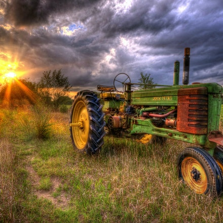 Best in Show 9.7.2016.4 - Best in Show. Approaching clouds over a Lancaster County farm field can't diminish the vivid colors of a vintage John Deere tractor....