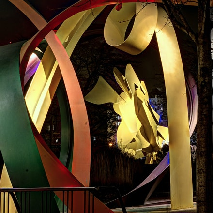 Twisted Colors   11.22.2017.8 - Twisted Colors. The colorful curves of the Noodles and Doodles sculpture at Joselyn Art Museum emulate those of a thrilling...