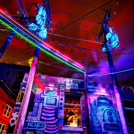Transformers   1.20.2018.3 - Transformers. Vivid colors electrify Gallery Alley in Lincoln's Haymarket District. Lincoln, Nebraska. #color #nebraska #lincoln...