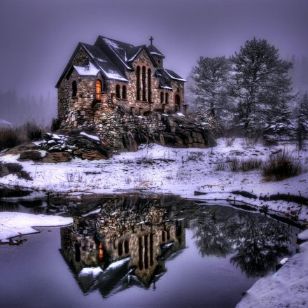 Reflection of St. Malos     4.21.2018.9 - Reflection of St. Malos. The lasting beauty of St. Malo's Chapel is reflected in a nearby pond. Built upon a...